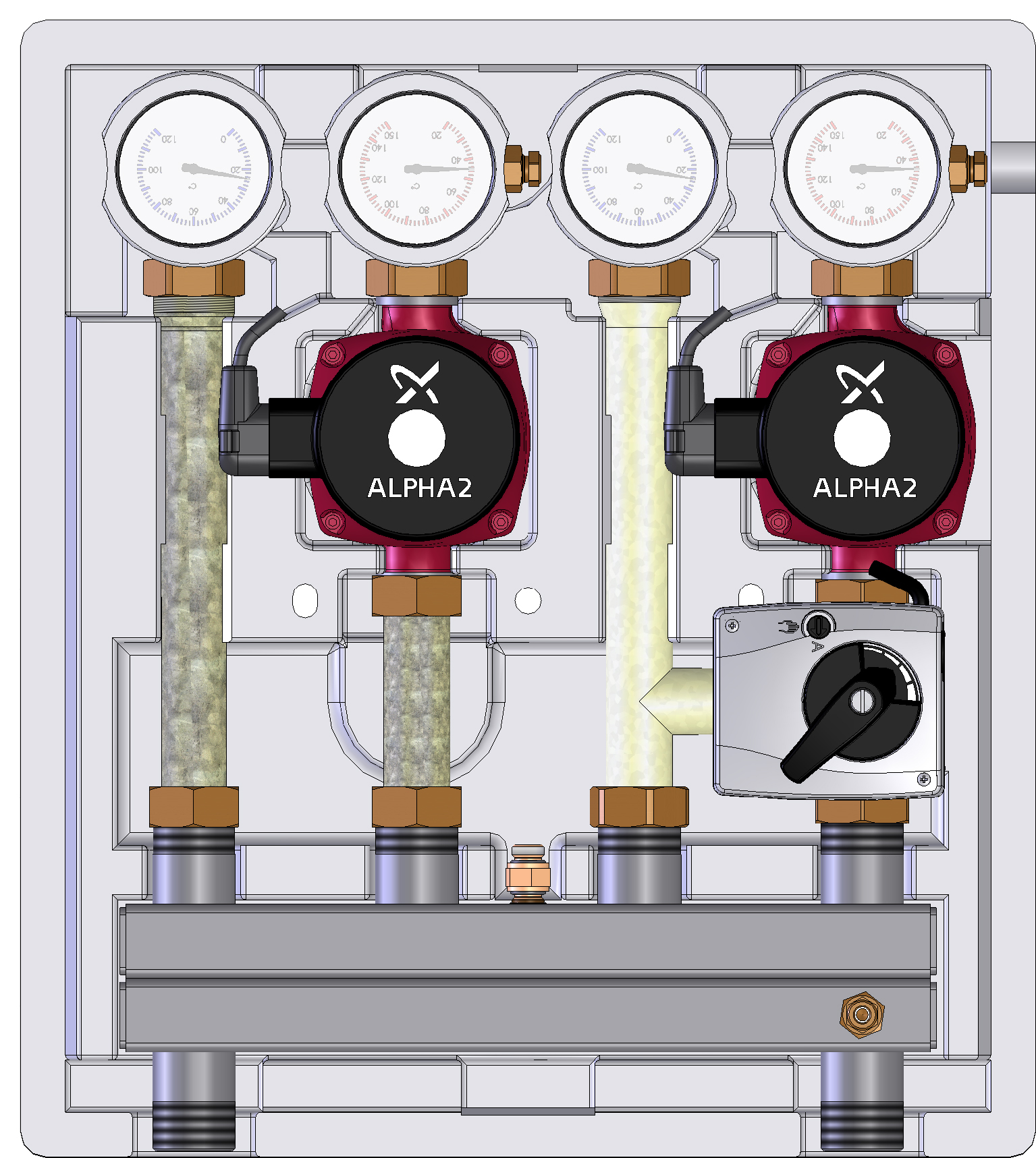 Насосно-смесительный модуль Meibes Kombimix фото1