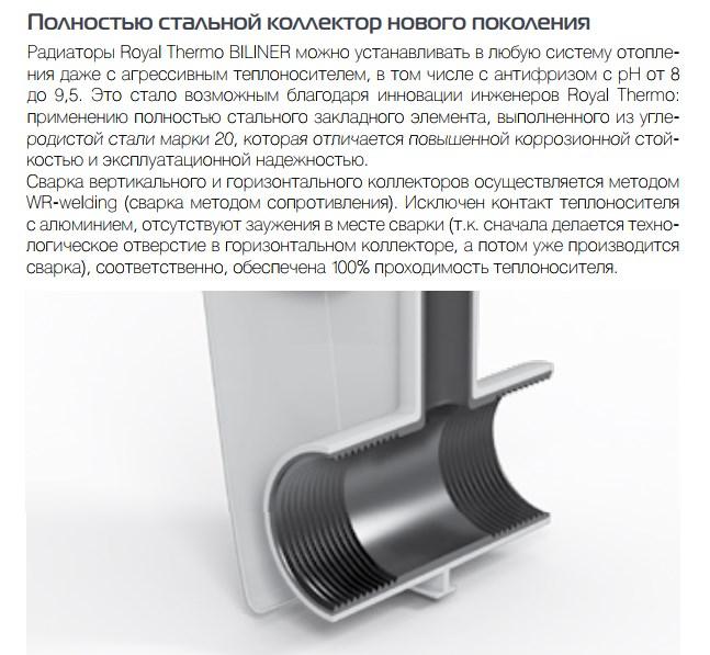 Биметаллические радиаторы Royal Thermo Revolution Bimetall 500 фото5