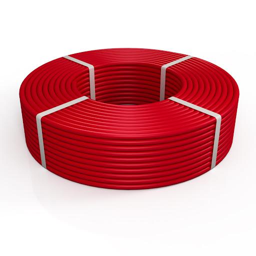 Труба сшитый полиэтилен PE-RT для теплого пола 16(2,0) бухта 200м красная РосТурПласт фото1