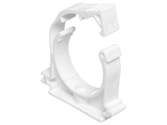 Кронштейн пластиковый c фиксатором 32мм, белый РосТурПласт фото1
