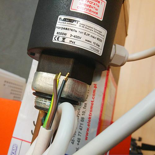 Универсальный блок ТЭН Elektromet EJK maxi 4,5 kW (380V) фото4