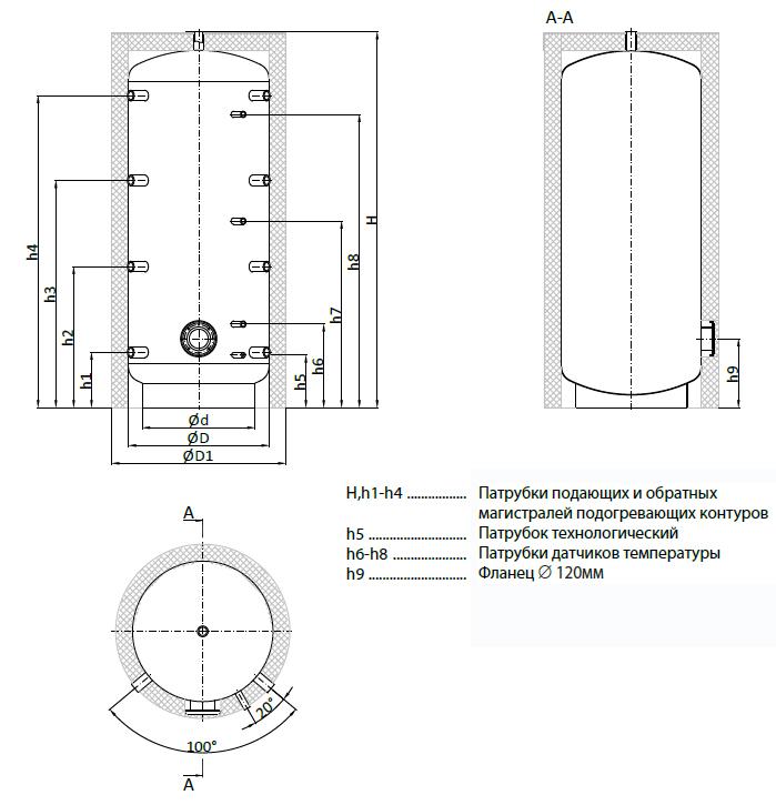 Аккумулирующий бак Теплобак ВТА-4 750 фото4
