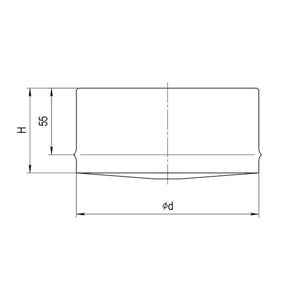 Заглушка для ревизии Ferrum AISI 430/0,5 фото2