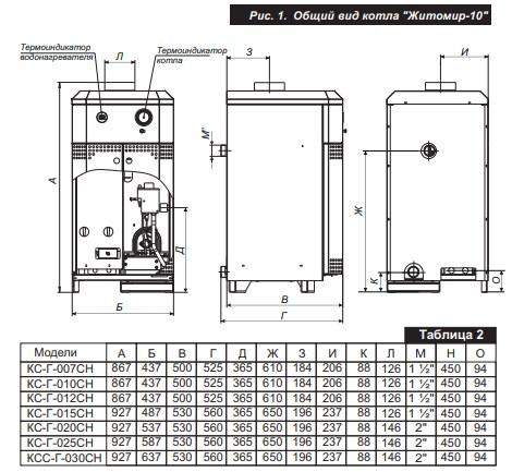 Газовый котел АТЕМ Житомир-10 КС-Г-015 СН фото3