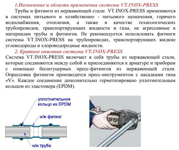 Труба из нержавеющей стали Valtec VTi.900.304 35х1,5 мм фото4
