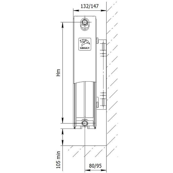 Стальной радиатор Лемакс Compact тип 22 500 мм фото6