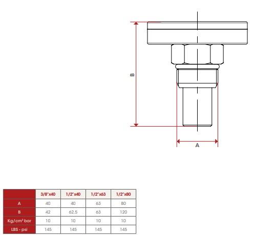 Термометр, осевое подключение ITAP APT.493 фото2