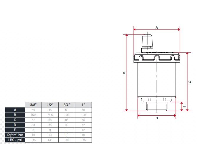 Воздухоотводчик автоматический стояковый ITAP 1/2 фото2